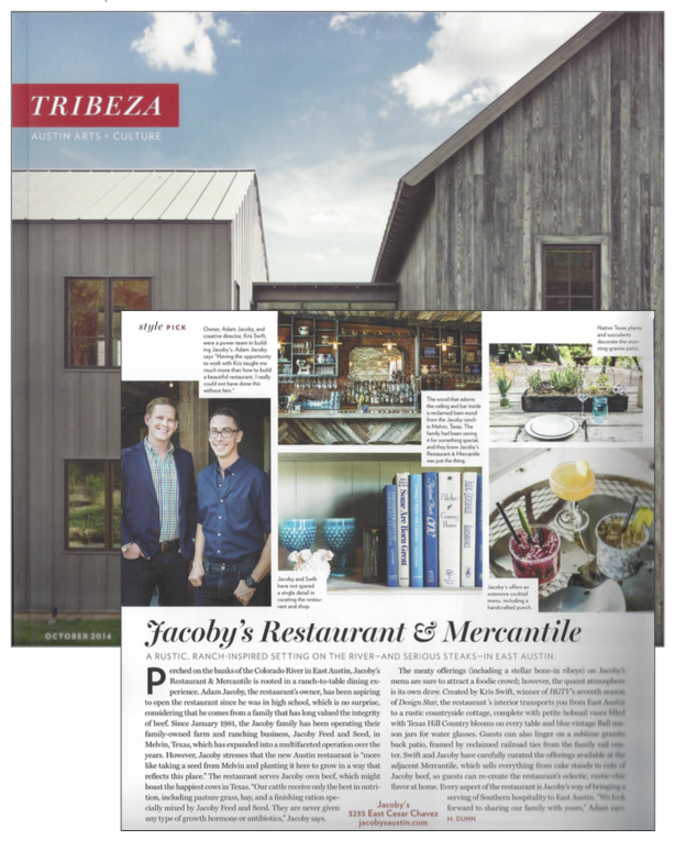 Tribeza Press | Jacoby's Austin